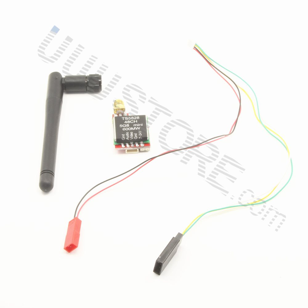 Color: Only TS5828 Part /& Accessories FPV 5.8G TS5828 600mW 48 Channels Mini Wireless A//V Transmitter TX AV Video Output Cable for SJ4000 Gopro Xiaomi FPV