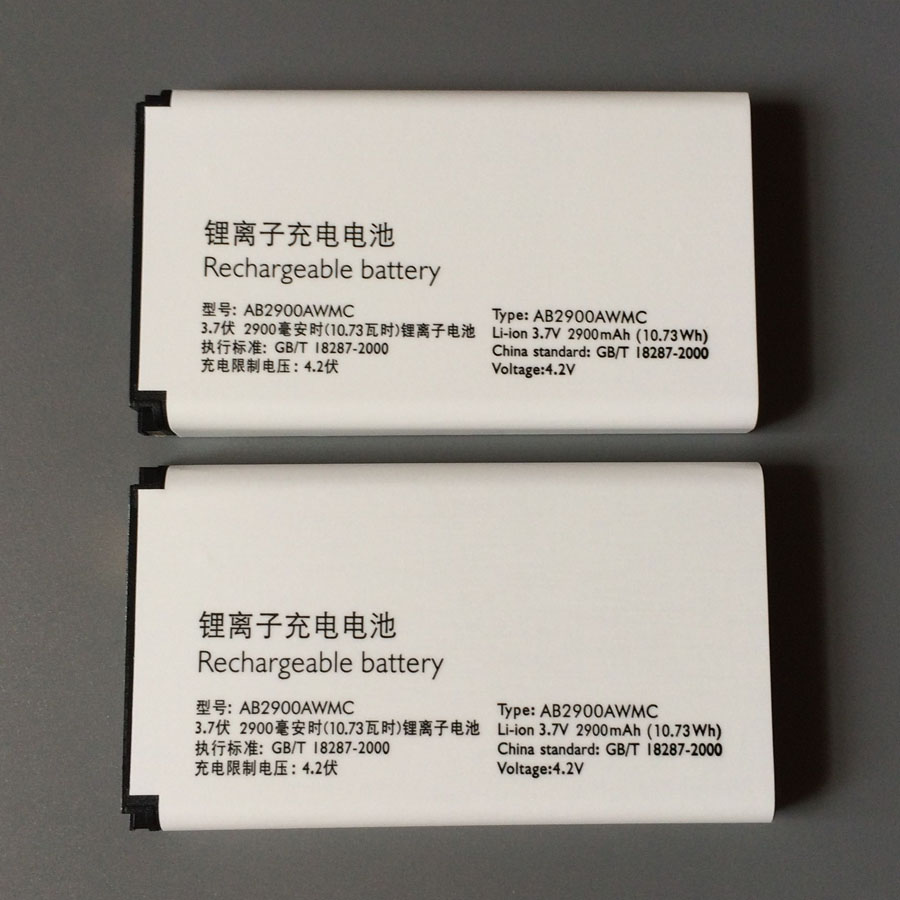 In Stock 100% NEW AB2900AWMC Battery For <font><b>PHILIPS</b></font> Xenium <font><b>X1560</b></font> X5500 CTX5500 CTX1560 Smartphone/Smart Mobile phone image