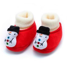 Newborn Infant First Walkers Shoes Christmas Baby Winter Warm Soft Sole Sneaker Children Kids Casual Shoes Prewalker Cotton#N8(China)