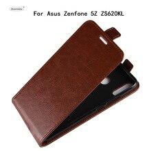 HUDOSSEN для ASUS Zenfone 5Z ZS620KL X00QD роскошный кожаный раскладной чехол для телефона задняя крышка с держателем карт Для Zenfone 5Z ZS620KL