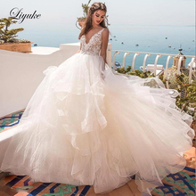 Liyuke Princess Type Neckline Ball Gown Wedding Dress With