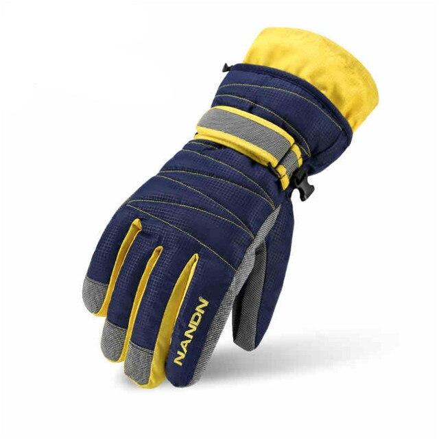 NANDN зимние Семейные лыжные перчатки ветрозащитные непромокаемые толстые хлопковые перчатки спортивные лыжные сноубордические перчатки для взрослых детей
