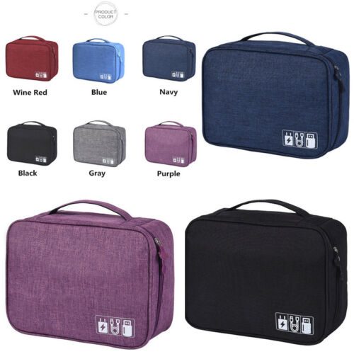 AU Digital Storage Bag Travel Gadget Organizer Case For Hard Disk/USB/Data Cable-in Storage Bags from Home & Garden