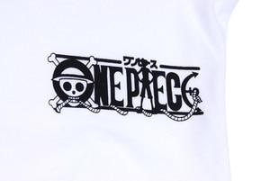 Image 4 - Brdwn One Piece Cosplay Luffy Kostuum Unisex Wit Korte Mouwen T shirt Cartoon Logo Tee Shirt Tops Zomer Dragen