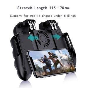 Image 1 - Controle pubg com ventilador para jogos de celular, controle de jogos de dispositivos móveis com botão de disparo, joystick para iphone, ios