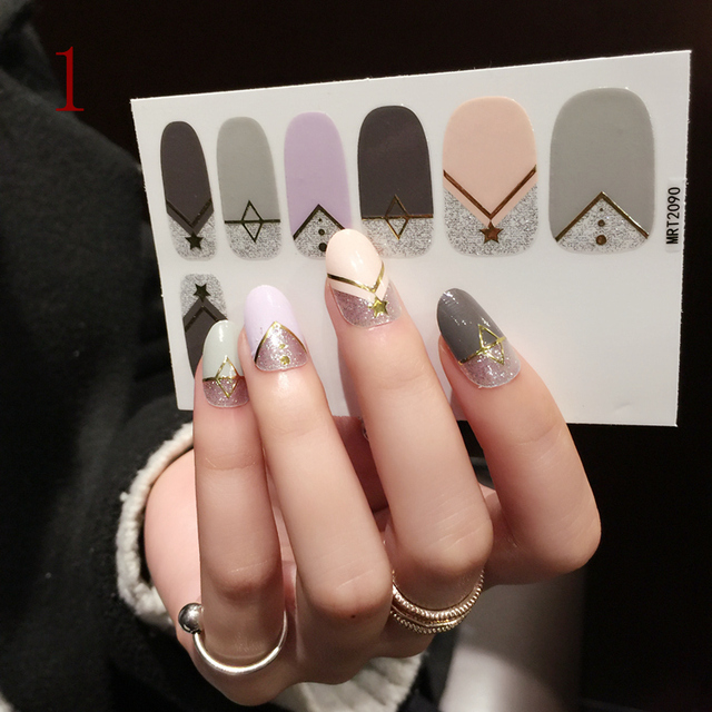 foreverlily 12pcs New Art Nail Stickers 13 Styles Disposable Nail ...