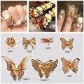 20 unids 3D Flor de Mariposa Charm Decoraciones Glitter Metal de la Aleación Joyería Piedras Nail Art Decoraciones Espárragos Corea Nueva