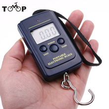 20g-40Kg Pocket Digital Electronic Hanging Hook Weight Scale Fishing Scales Tackle Tool  LCD Screen Display Navy blue Kg/Lb/oz