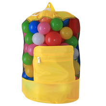 Foldable Beach Toy Bag Sand Away Storage Pouch Tote Mesh Travel Organizer Sundries Net Drawstring Backpack