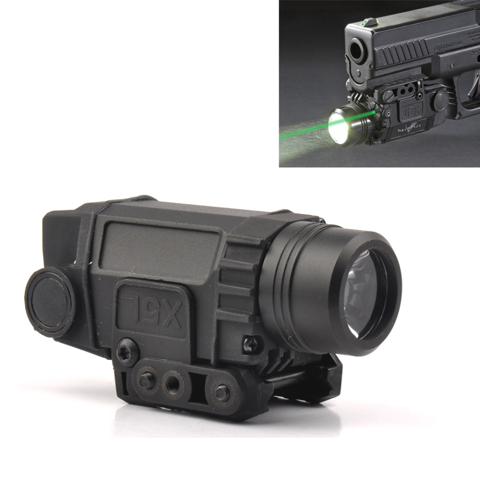Tactical Green Laser Sight with LED Flashlight Combo with 20mm Universal Mount for Rifle Pistol Handgun xl nxf rg 5mw green laser gun sight w weaver mount led flashlight black 3 x cr 1 3n