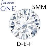 Сертифицированный Чарльз Colvard навсегда один круглый бриллиант, Муассанит алмазе камни 5 мм 0.41CT DEF Цвет ВВС VS Тесты положительный
