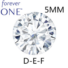 Certified Charles Colvard Forever One Round Brilliant Moissanite Loose Diamond Stones 5mm 0.41CT DEF Color VVS VS Test Positive