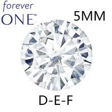 認定チャールズ Colvard 永遠に 1 ラウンドブリリアントモアッルースダイヤモンド石 5 ミリメートル 0.41CT DEF カラー Vvs VS テスト正
