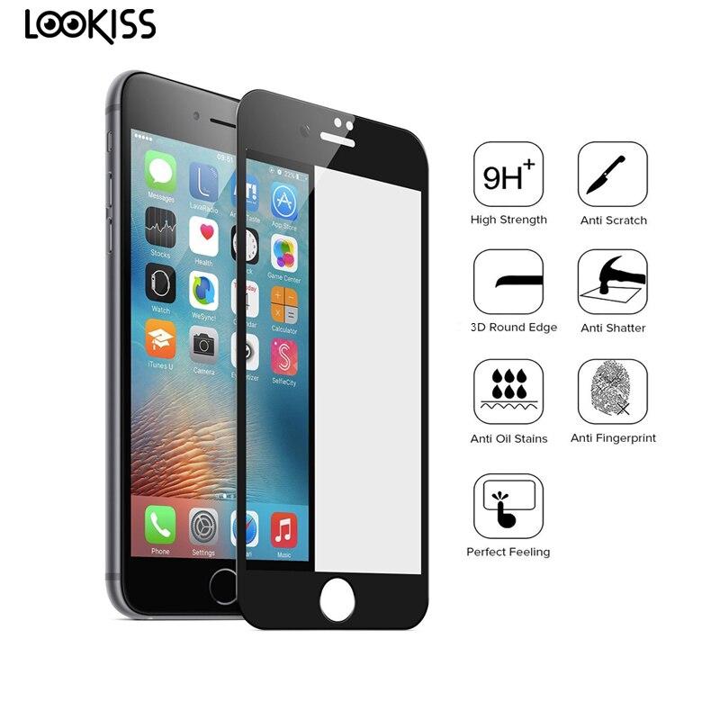 imágenes para X10 pc protector de pantalla para iphone 6s 3d cubierta completa de carbono fibra de vidrio templado premium templado película para iphone 6s 7 Plus