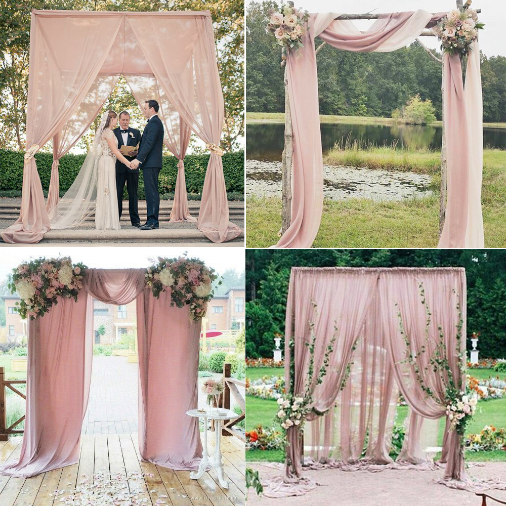 Buy 5m nude pink chiffon fabric for for Decoraciones jardines