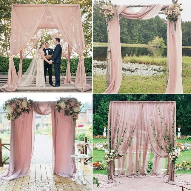 Wedding Arch Decorations Fabric: Aliexpress.com : Buy 5M Nude Pink Chiffon Fabric For