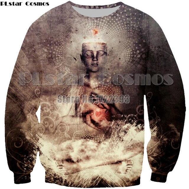 fabb589ffbc PLstar Cosmos Men Women 3d Buddha Sweatshirts Autumn Tracksuit Gratitude  Prayer Pullover Unisex Psychedelic Sweatshirt