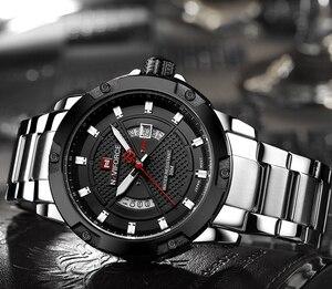 Image 3 - NAVIFORCE Top marque de luxe hommes montre de sport décontracté en acier pleine Date montres à Quartz hommes montres relogio masculino