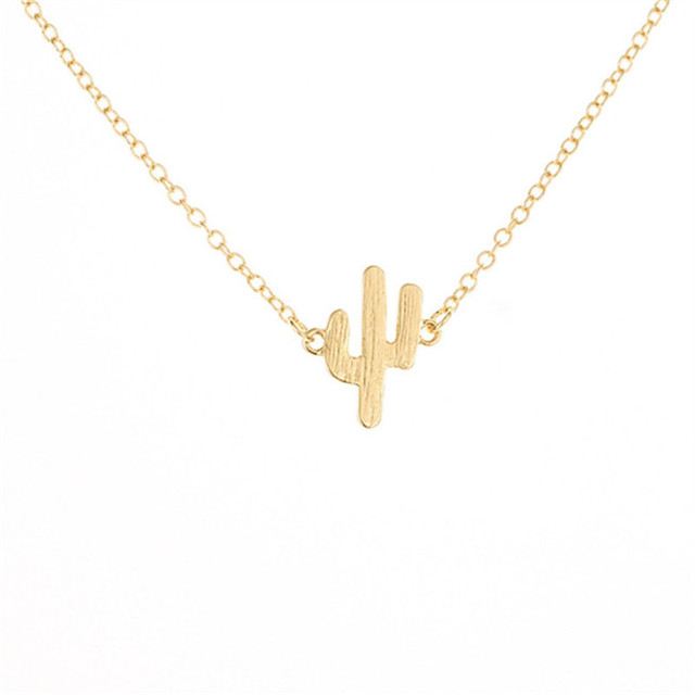 Tiny Cactus Necklace