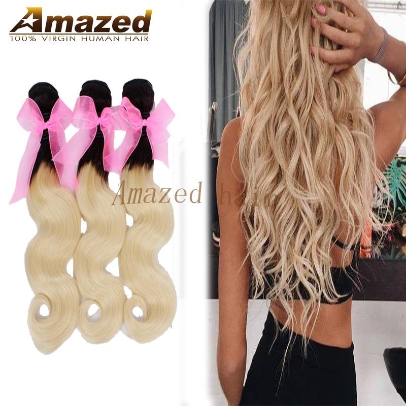 Top 7a Brazilian Virgin Hair Body Wave Blonde 613 Soft Brazilian Sew