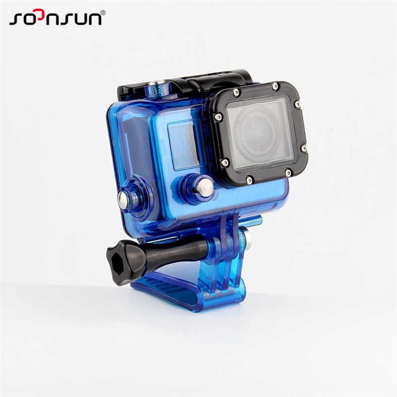 SOONSUN Ba Lô Kẹp Khóa Mount Adapter cho GoPro Hero 7 6 5 4 3 cho SJCAM cho Yi cho DJI Osmo Camera Hành Động Phụ Kiện