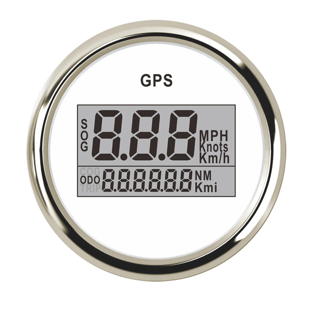 52 mm Boat Motorcycle Digital GPS Speedometer Gauge 0 999 Odometer MPH Km h Knots Adjustable