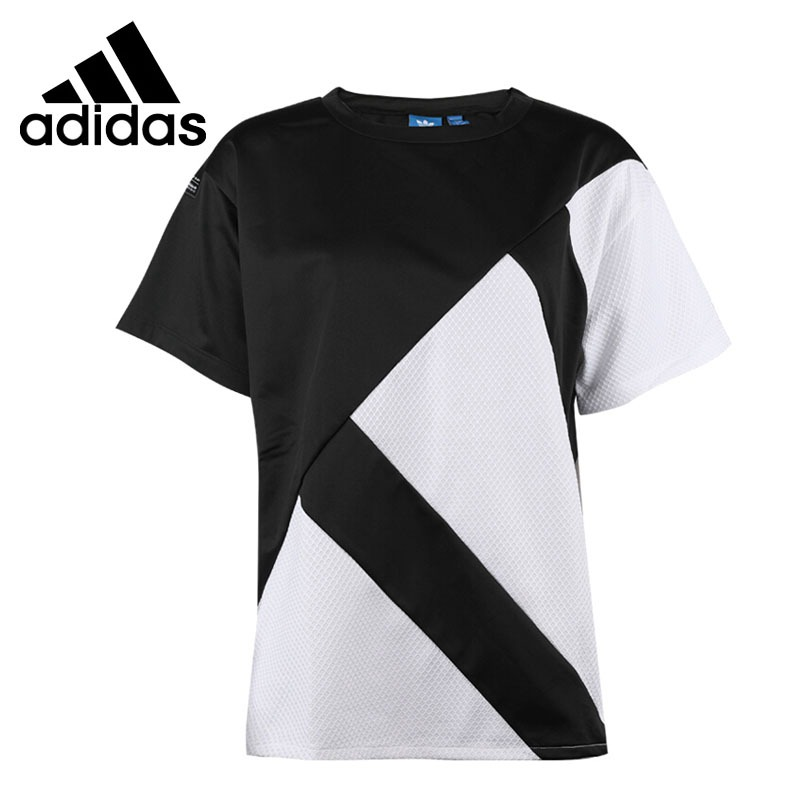 Original New Arrival 2018 Adidas Originals EQT TOP Women's T-shirts short sleeve Sportswear cropped wide sleeve top