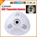 Chegada nova Fisheye Panorâmica Câmera Full HD Câmera IP HI3516C 1080 P 5MP 1.7 MM Lente Olho de Peixe Câmera de Segurança IP P2P ONVIF