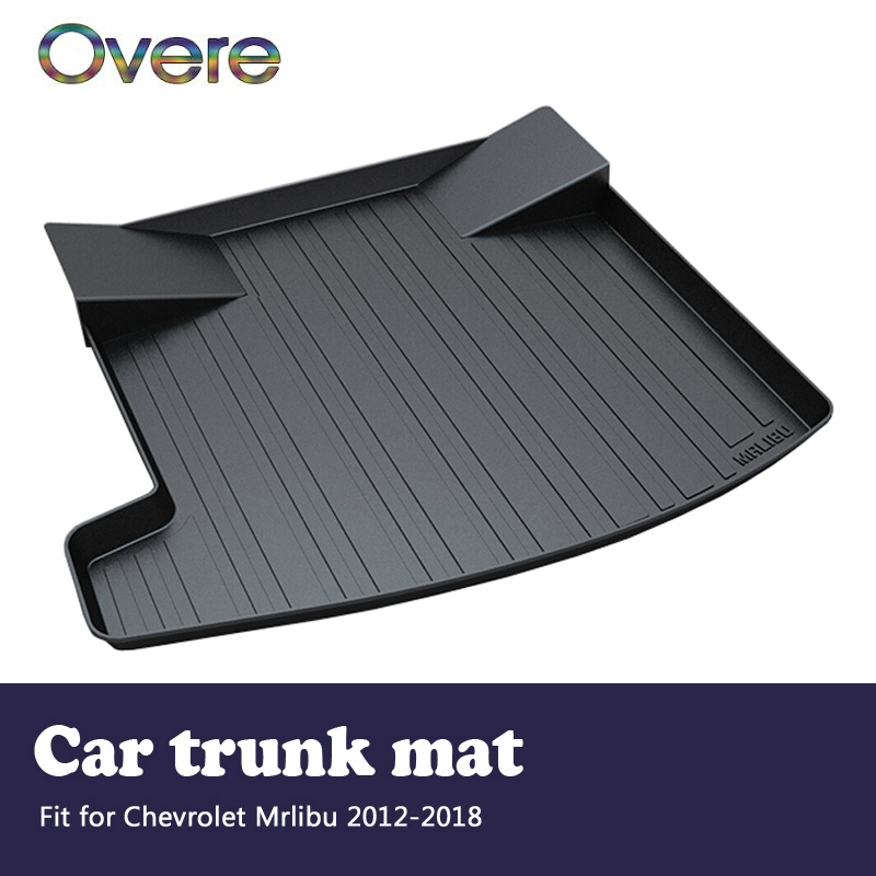 Overe 1Set Car Cargo rear trunk mat For Chevrolet Malibu 2012 2013 2014 2015 2016 2017 2018 Boot Tray Anti-slip mat Accessories free shipping luxury pu leather car trunk mat cargo mat for chevrolet malibu holden 2016 9th generation