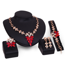 New Fashion African Beads Jewelry Sets High Quality Necklace Earrings Bracelet Rings 4Pcs/Set Accessories Jewelry Sets & More