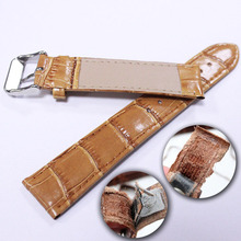 20mm 22mm Leather Watches Band Strap High Quality Brown White Genuine Watchband Wrist strap Woman and Man Accessories for Belts