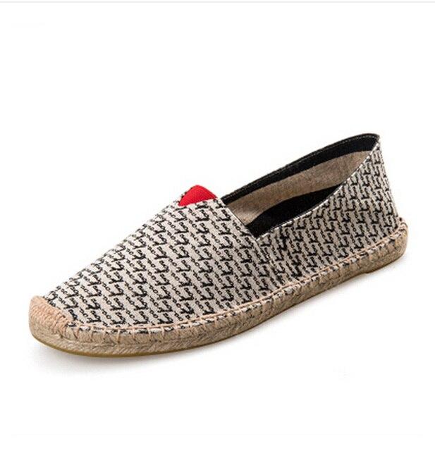 Nice Men Espadrilles Fashion Flats Shoes Slip On Unisex Canvas Shoes For Men  Loafers Shoes Men Size 25-65 Men Pop Shoes