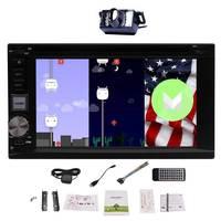 Android 6.0 Quad Core Voiture Stéréo DVD CD Lecteur Au Tableau de Bord 6.2 pouce Écran Tactile GPS Navi Radio Wifi MirrorLink + Livraison Caméra De Recul