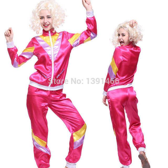 80s 80 S Womens Shell Suit Scouse Tracksuit Costume Scouser Fancy