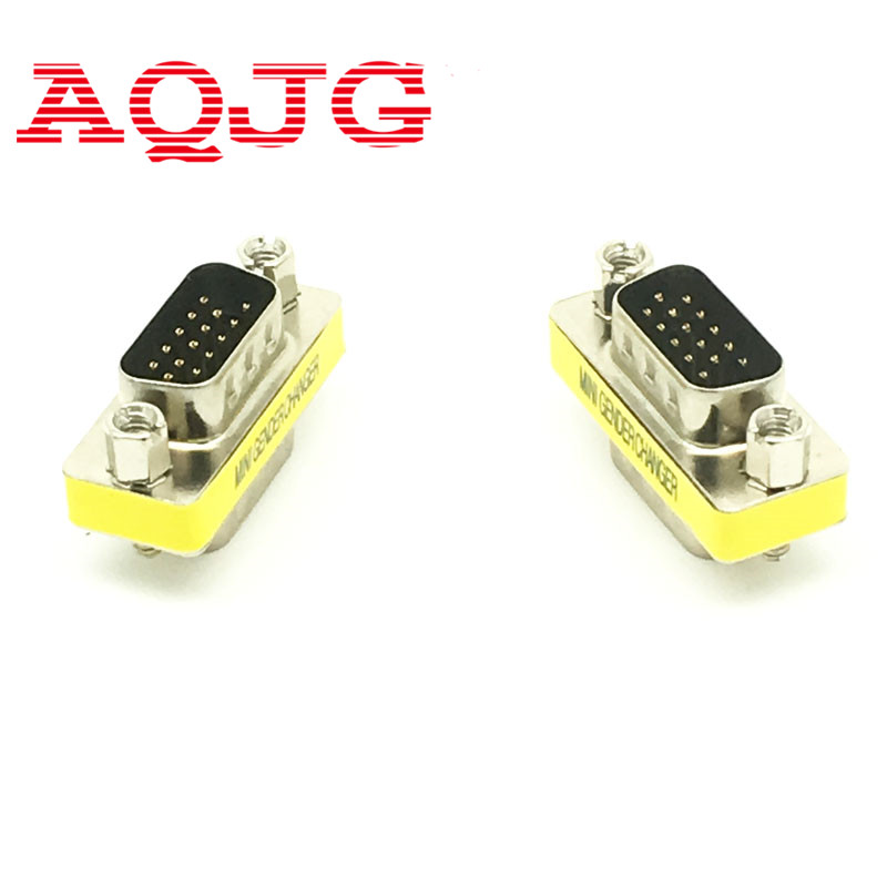 New Male to Male VGA HD15 Pin Gender Changer Convertor Adapter hot selling AQJG beautiful gift new usb to rs232 db9 serial com convertor adapter support plc drop shipping kxl0728