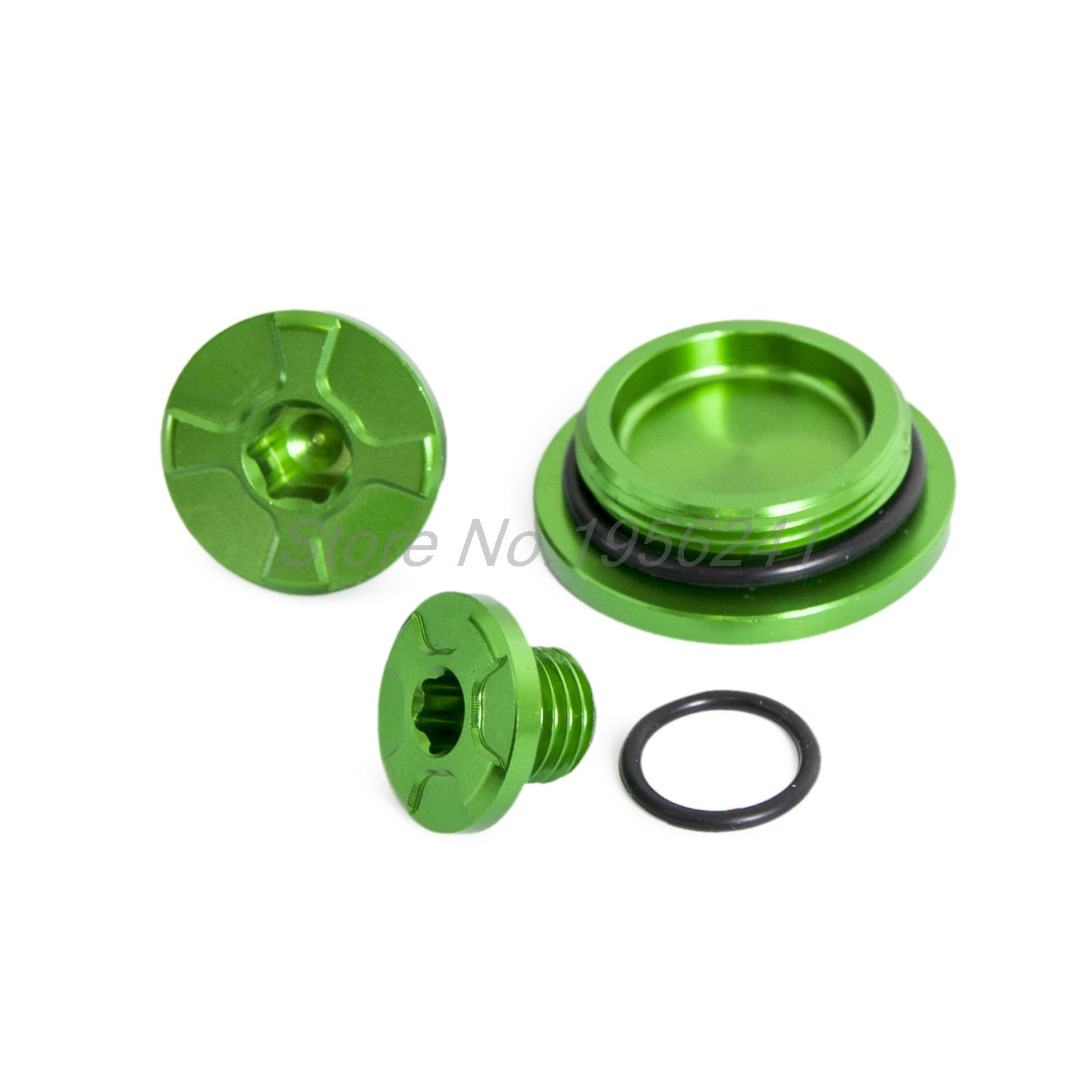 Crankcase Cover Engine Plug & Oil Filler Plug for Kawasaki KX250F 2011-2016 KX450F 2009-2016 KLX450R 2008-2015