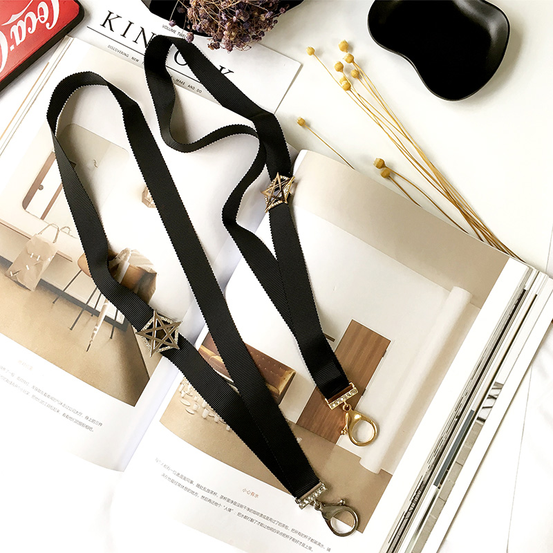 Stars Rope Mobile Phone Straps Ckoker Necklace For Women The key hang rope Girl Sweather Personality Accessory Generous Colar