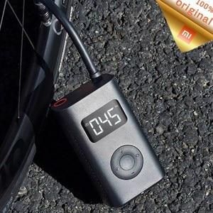 Image 1 - Stock Xiaomi Mijia Portable intelligent numérique pression des pneus pompe à Air détection USB gonfleur pneus électriques pour vélo moto voiture