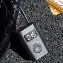 Stok Xiaomi Mijia taşınabilir akıllı dijital lastik basınçlı hava pompası algılama USB şişirme elektrikli lastikler bisiklet motosiklet araba için