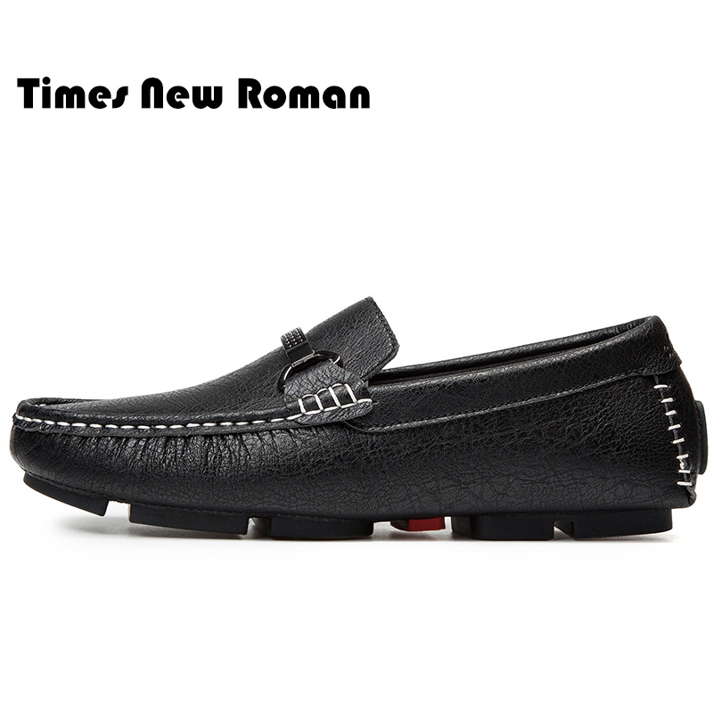 4c5b38513d3 Times New Roman Comfortable Casual Shoes Loafers Men Shoes Quality Genuine Leather  Shoes Men Flats Hot