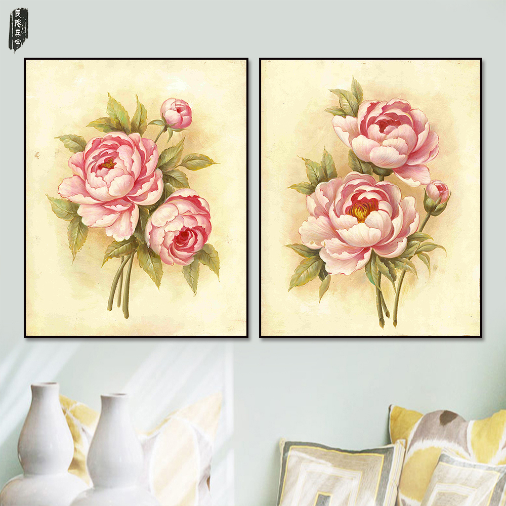 pared colorida flor pinturas lienzo arte moderno rbol de pintura de la lona wall art posters