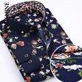 Camisa Dos Homens à moda do Algodão Longo Da Luva Dos Homens Camisas de Negócios Camisa Masculina Sociais Chemise Homme Dos Homens Camisas Casuais Camisas Xadrez