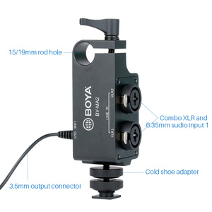Image 3 - Boya BY MA2 Dual Channel Record Audio Mixer XLR Jack 6.5mm to 3.5mm Wireless Microphone System for DSLR Camera Canon Nikon Sony
