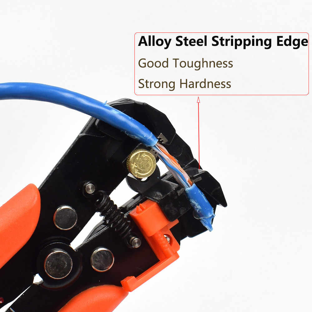 NEWACALOX Self-Adjusting Cable Wire Stripper Cutter Crimper Crimping Stripping Multifunctional  Automatic Electric Terminal Tool