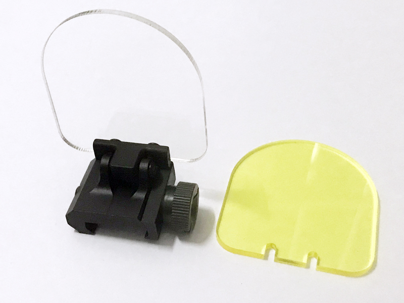 3 мм толстый оптический прицел Складная линза Щит протектор подходит 20 мм рейку для Aim спортивный рефлекторный прицел слайдер крышка красная точка