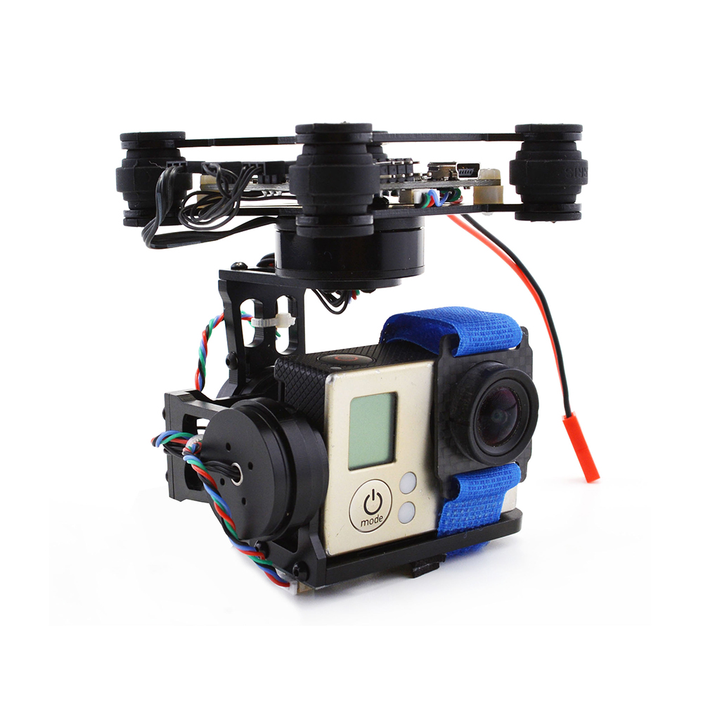 RTF CNC FPV 3 Axis Brushless Gimbal W/ 2204 2805 Motor & Storm32 Controlller for Walkera X350 Gopro 3 fpv gopro metal brushless camera gimbal w motor &controller blade walkera qx350 aerial photo