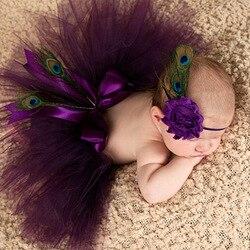 Pena menina tiara Infantil acessórios para o cabelo Laço bow newborn Headwear tiara headwrap Pavão Crianças bandagem Girassol
