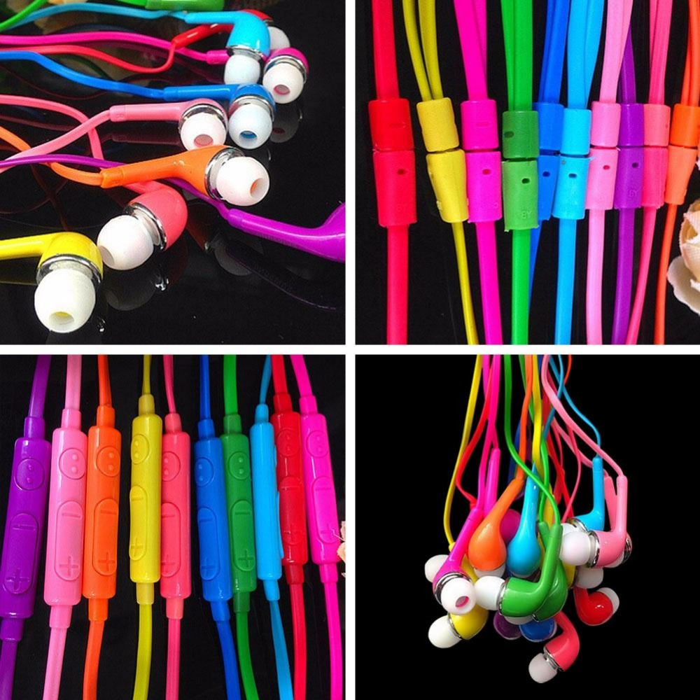 Candy Color 3.5mm In-Ear Earphone Earbuds Headset Earphones With Mic For SAMSUNG HTC Sony xiaomi mp3 mp4 wholesale 3 5mm in ear earphones earbuds with mic