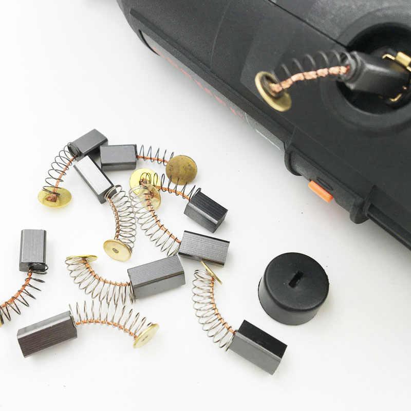 10 pçs escova de carbono para dremel acessórios multipro broca moedor mão rotativa máquina de moagem de perfuração ferramenta