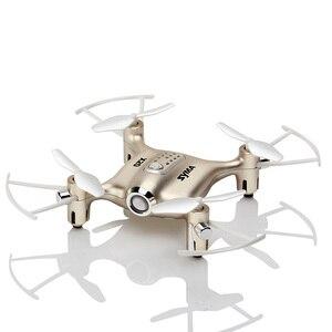 Image 5 - Syma X20 Mini Drone Dorato 2.4G 4CH 6 aixs Tasca di Telecomando Elicottero Quadcopter Gyro RC Dron 3D flip Bambini Giocattoli regalo